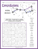 Astronomy Activity: Star Constellations Word Search