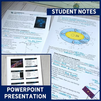 Constellations ALL-IN-ONE Lesson | PowerPoint, Notes, Room Transformation & More