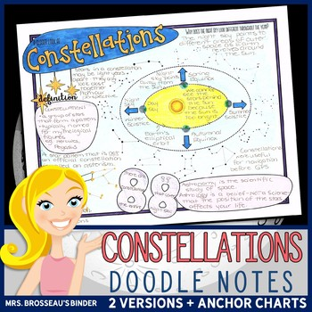 Constellations - Astronomy, Science Doodle Notes