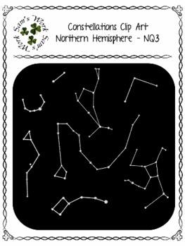 Constellations Clip Art – Northern Hemisphere, NQ1-NQ4