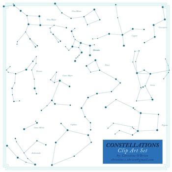 Constellations Clip Art Set