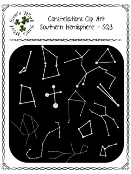 Constellations Clip Art – Southern Hemisphere, SQ1-SQ4
