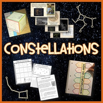 Constellations Complete Unit Pack- Printables, Interactive notebooks,PowerPoint