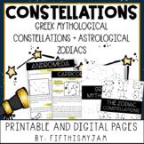 Greek Mythology and Zodiac Constellations Reading Passages