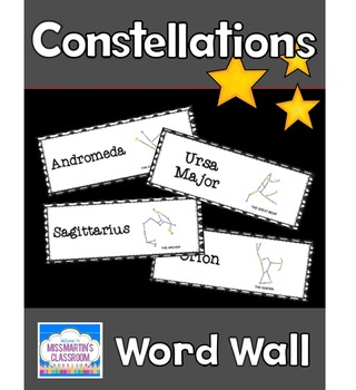 Constellations: Science Vocabulary Word Wall