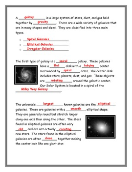 Constellations and Star Systems Note Taking Guide