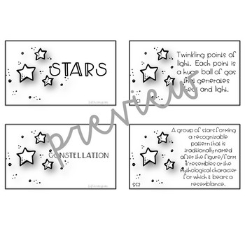 Constellations and Stars Memory Game - 5.ESS1
