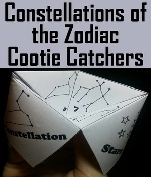 Constellations of the Zodiac Activity/ Foldable (Space Science/ Astronomy Unit)