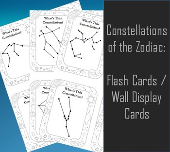 Constellations of the Zodiac Cards
