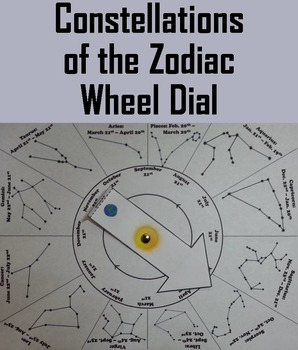 Constellations of the Zodiac Wheel Dial (Space Science/ Astronomy Unit)