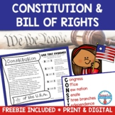 Constitution Day Activities | Easel Activity Distance Learning