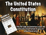US Constitution Presentation and Worksheet
