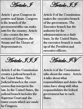 US Constitution Interactive Notebook (American Government Unit)