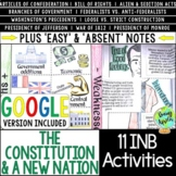 Constitution & A New Nation Interactive Notebook Activitie