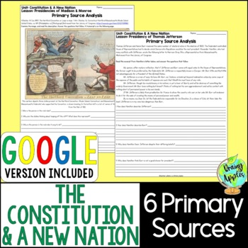 Constitution & A New Nation Primary Sources, Early US History Primary Documents