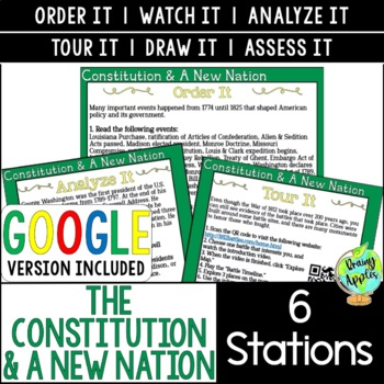 Constitution & A New Nation Station Activities, Early US History Stations