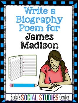Constitution Activity: James Madison Biography Poem