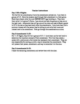 Constitution Amendment Worksheet