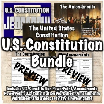 Constitution + Amendments Bundle