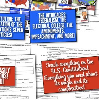 Constitution, Amendments, Electoral College Guided Notes & PowerPoint! Engaging!