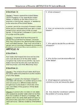 Constitution-Article III & IV