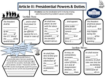 Constitution Article Two Graphic Organizer
