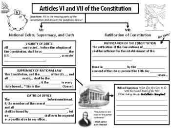 Constitution Articles 6 & 7 Graphic Organizer