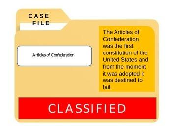 Constitution: Articles of Confederation CSI
