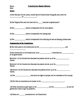 Free 8th Grade Civics Worksheets Resources Lesson Plans Teachers