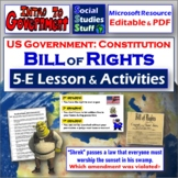 Constitution & Bill of Rights 5-E Guided Lesson & Activities - USA Government
