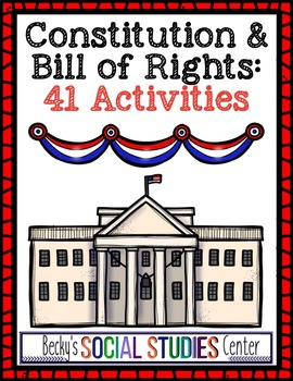Constitution & Bill of Rights Activities - Three Branches of Government