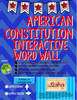 Constitution & Branches of Government Interactive Word Wall