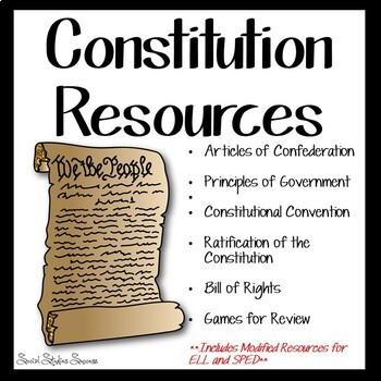 CONSTITUTION BUNDLE - Activities for the ENTIRE Constitution Unit