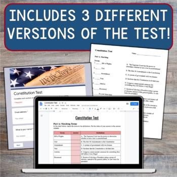 constitution bundle slideshow handouts study guide constitution rh teacherspayteachers com U.S. Constitution Test 7th Grade U.S. Constitution Test 7th Grade