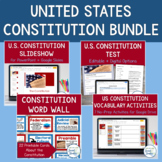 Constitution Bundle: Slideshow, Handouts, Study Guide & Constitution Test