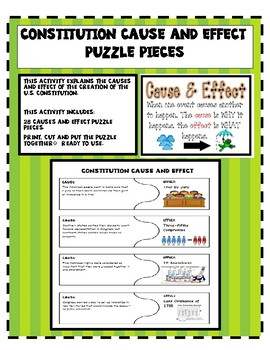 Constitution Cause and Effect Puzzle