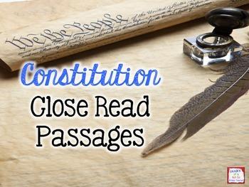 Constitution Close Read Passages