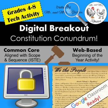 Constitution Conundrum! Digital Breakout - Constitution Day Escape Room WEBSITE