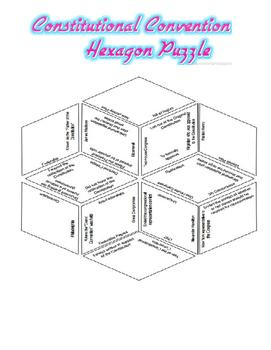 Constitution Convention Hexagon Puzzle