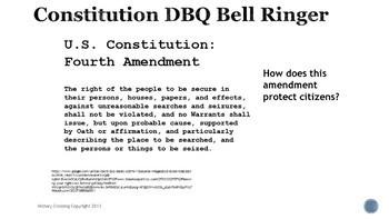 Constitution DBQ Bell Ringers
