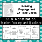 U.S. Constitution Day Activity: Reading Comprehension and Task Cards