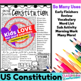 Constitution Day Activity: Constitution Day Word Search: V