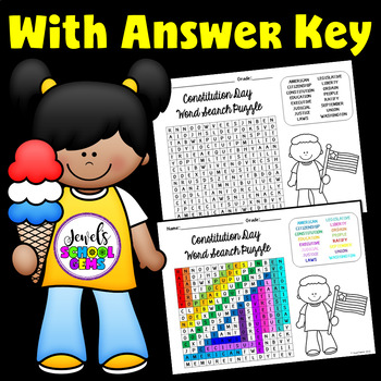 Constitution Day Word Search Activities