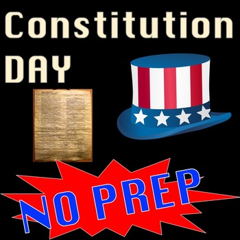 Constitution Day Activities Reading Comprehension & Writing Packet U.S. History