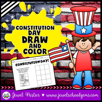 Constitution Day Activities (Draw and Color Worksheets)