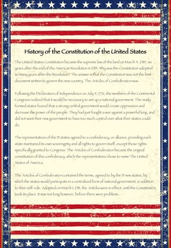 Constitution Day - US Constitution Informational Text