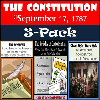 The Constitution 3-Pack: The Preamble, Articles of Confede