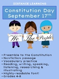 ~DISTANCE LEARNING~ Constitution Day