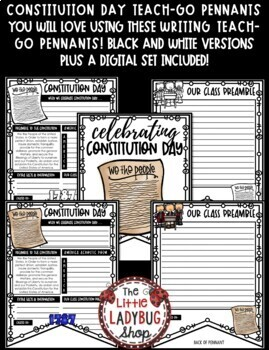 U.S Constitution Day Activities Poster • Teach- Go Pennants™