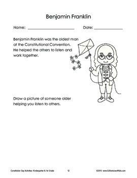 Constitution Day - Activities for Kindergarten and 1st Grade